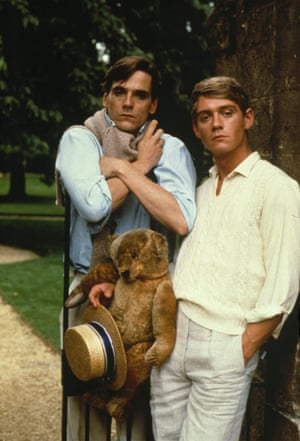 Aloysius, Jeremy Irons and Anthony Andrews in thye 1981 Brideshead Revisited TV series.