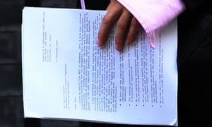 Dominic Cummings letter
