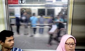 Commuter train in Jakarta