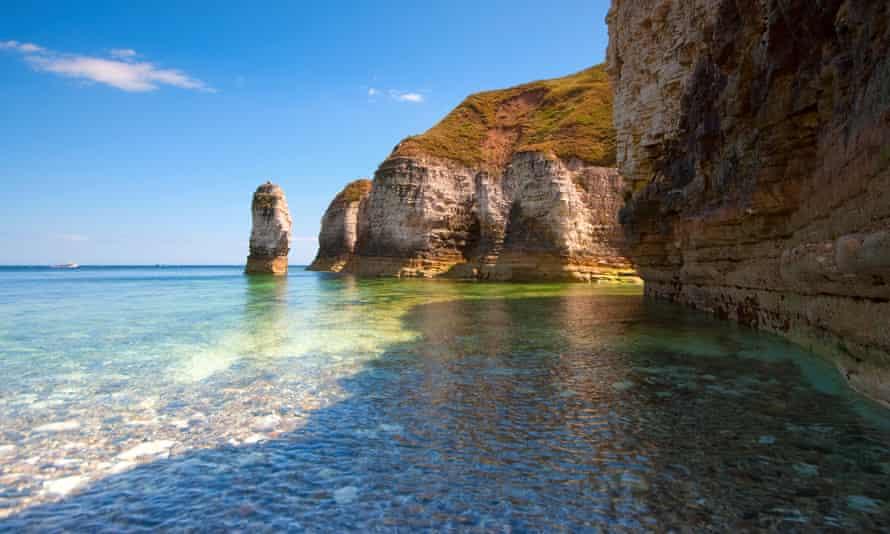 Cliffs below Flamborough Head on the Yorkshire coast.