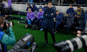 Mauricio Pochettino just before the game against Bayern Munich, which Tottenham lost 7-2.