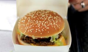A burger in a box