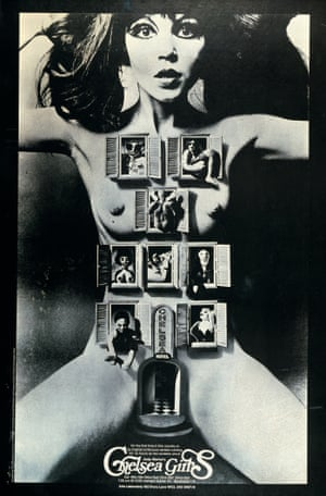 Chelsea Girls poster, 1966 … Publicity for the Andy Warhol movie which used split screen to tell the story of some women staying at the Chelsea Hotel.