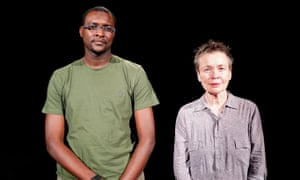 Mohammed el Gharani with Laurie Anderson