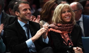 Emmanuel Macron and his wife Brigitte