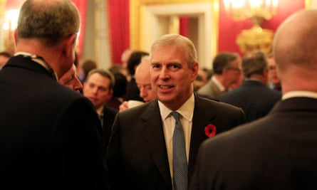 The Duke Of York at a Pitch@Palace event in 2015.