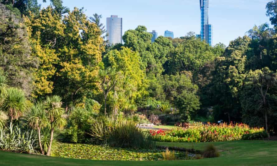 Royal Botanic Gardens in Melbourne, Victoria, Australia.