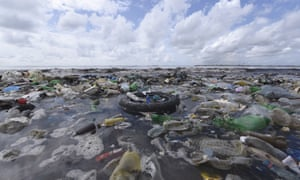 Waste plastics near Dakar … by 2050 there will be more plastic in the sea than fish.