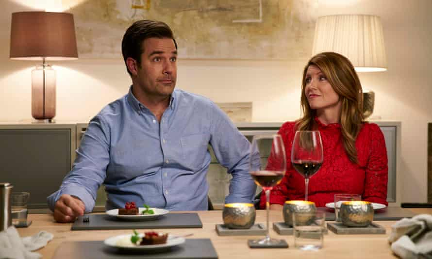 Rob Delaney and Sharon Horgan in the third series of Catastrophe.