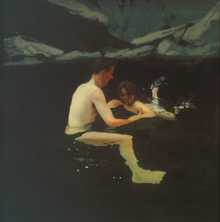Melanie and Me Swimming 1978-9, by Michael Andrews