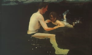 Unguarded humanity … Melanie and Me Swimming 1978-79 by Michael Andrews from All Too Human: Bacon Freud and a Century of Painting Life.