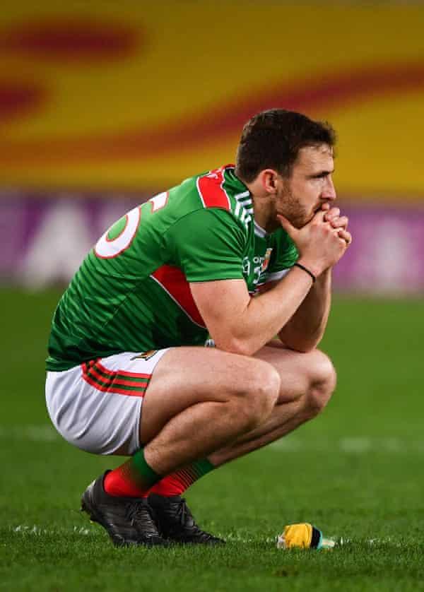 Darren Coen                 of Mayo dejected after defeat by Dublin in 2020.