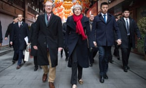 Theresa May and her husband Philip visiting Shanghai as part of a trade mission to China in February.