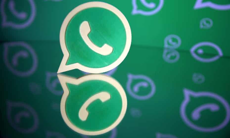 Whatsapp messaging service logo.