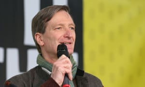 Dominic Grieve in Parliament Square on Saturday.
