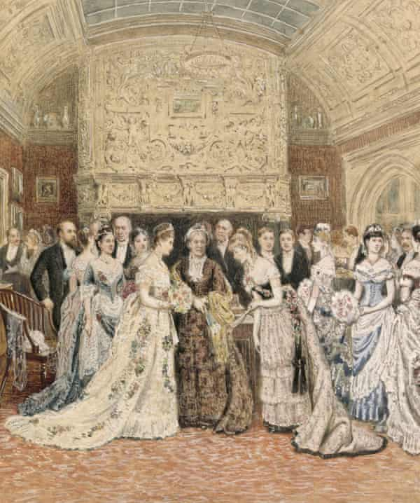 Painting showing aristocratic gathering