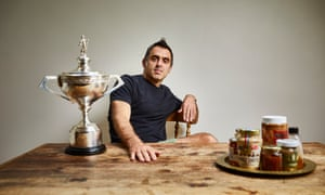 Ronnie O'Sullivan photographed at home in London.