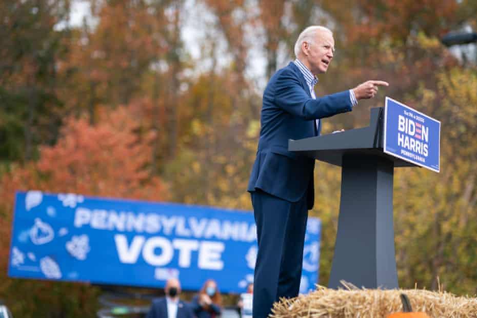 Joe Biden holds Bucks county mobilization event at Bucks County Community College on 24 October.