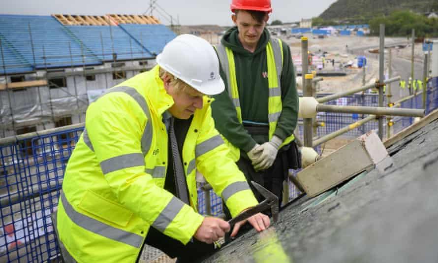 Boris Johnson at the West Carclaze Garden Village housing development, St Austell, 9 June 2021.