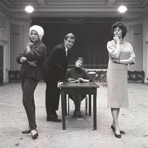 Fenella Fielding, Keith Michell, Maggie Smith and Vivienne Drummond in the television play Armchair Theatre: Guardian Angel, 1960