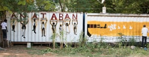 Ana Taban artwork on metal containers