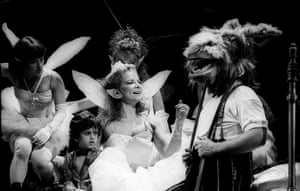 Clare Higgins as Titania and David Troughton as Bottom in A Midsummer Night's Dream