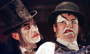 Julian Bleach and Martyn Jacques in the theatrical adaptation of Shockheaded Peter.