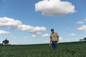 Farmer Greg Jerry on his property.