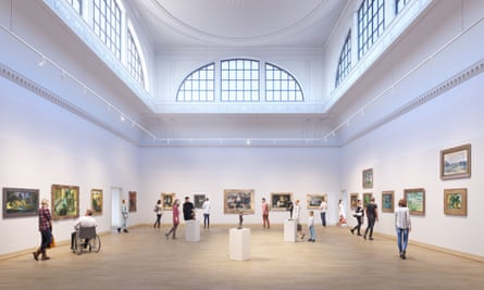 Impression of the reconfiguration of the Great Room of the Courtauld Gallery.