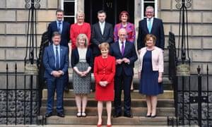 Nicola Sturgeon with her new cabinet.