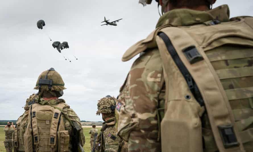 Military exercise on Salisbury Plain