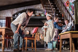 Paddy Considine with Sophia Ally, Elise Alexandre and Rob Malone in The Ferryman.