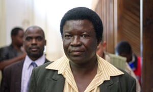 Zimbabwean landowner Honest Ndlovu arrives at the prosecutor's office at the magistrate's court in Hwange in July.