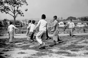A game of football at a social services institution