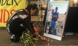 A vigil for anti-coal seam gas crusader George Bender