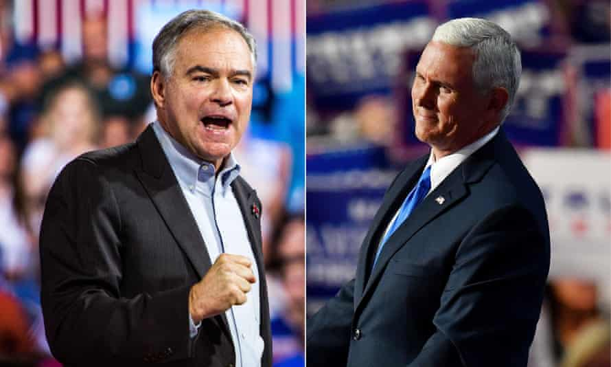 Tim Kaine and Mike Pence.