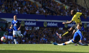 Watford's Odion Ighalo scores his sides second goal.