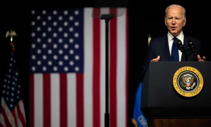 Joe Biden speaks in Tulsa, Oklahoma, on 1 June.