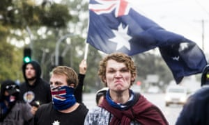 True Blue Crew at a protest in Melbourne