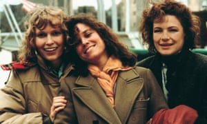 Mia Farrow, Barbara Hershey and Dianne Wiest in Hannah and her Sisters.