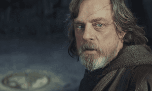 Villain of the piece? … Mark Hamill in Star Wars: The Last Jedi