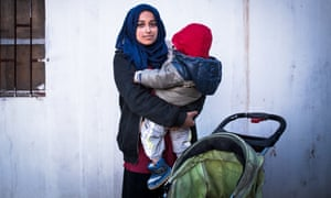 Hoda Muthana with her one-year-old son at al-Hawl refugee camp in Syria.