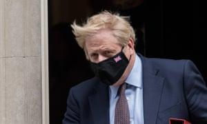 Boris Johnson leaves Downing Street on 26 May.