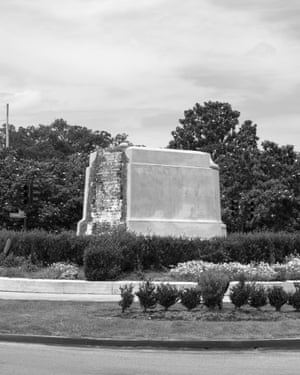 Matthew Shain, Post Monuments, New Orleans, (General P.G.T. Beauregard, erected 1913), 2017 by Matthew ShainBorn in San Francisco and based in New Orleans, Shain has been documenting the removal of confederate monuments since 2017