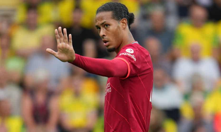 Virgil van Dijk made his first league appearance since October in Liverpool's 3-0 win at Norwich.