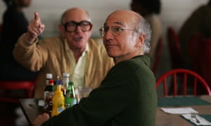 Shelley Berman, left, with Larry David in Curb Your Enthusiasm.