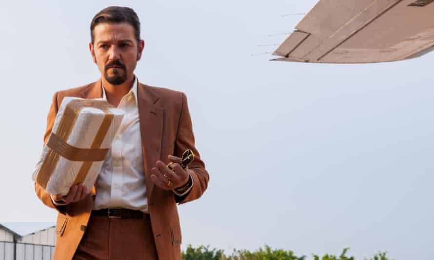 Diego Luna as Félix Gallardo in Narcos: Mexico, a Netflix series.