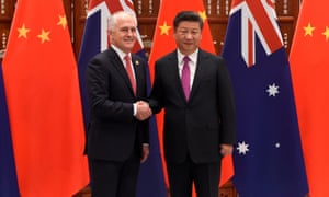The Chinese president, Xi Jinping, shakes hands with Australia's prime minister, Malcolm Turnbull, ahead of the G20 summit in Hangzhou.