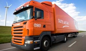 TNT lorry