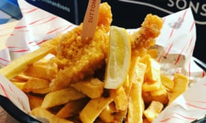 Vegan fish and chips from Sutton and Sons
